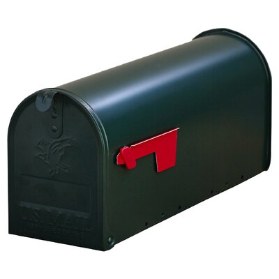 York Place Post Mounted Mailbox Color: Black