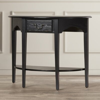 Apple Valley Demilune Console Table Color: Slate