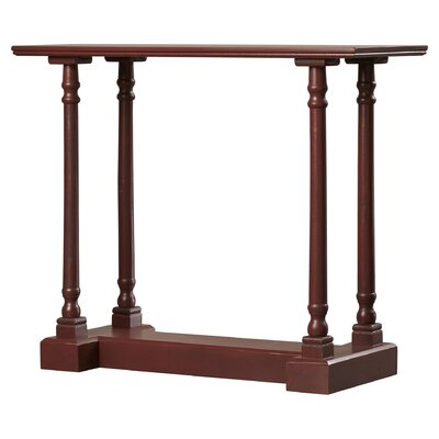 Grobbam Console Table Color: Red