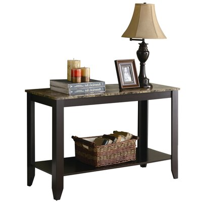 Blackmoor Console Table Table Base Color: Black, Table Top Color: Brown/Gray