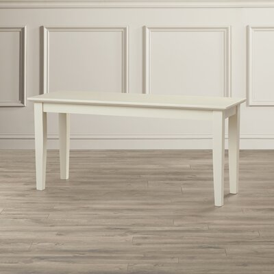 Allwood Wood Bench Color: Linen White