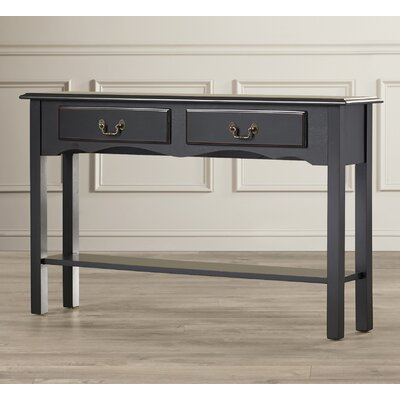 Annesley Petite Console Table Color: Black