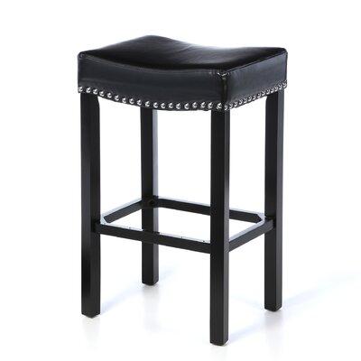 "Springfield 30"" Bar Stool Upholstery: Black"