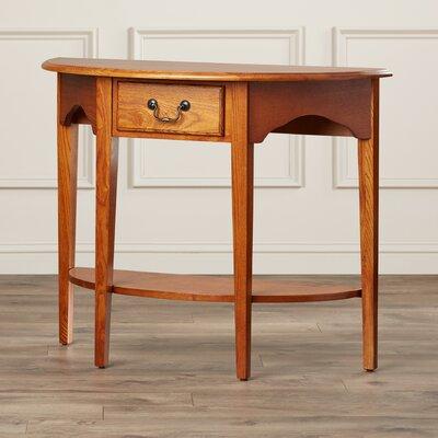 Apple Valley Demilune Console Table Color: Medium Oak