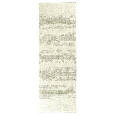 """Herleston Brette Bath Rug Size: Runner 1' 10"""" x 5', Color: Ivory"""