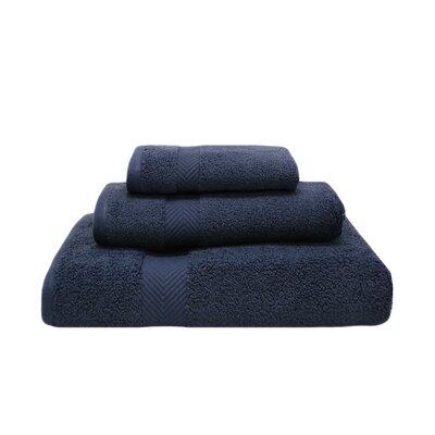Zero-Twist 3 Piece 100% Cotton Towel Set Color: Midnight