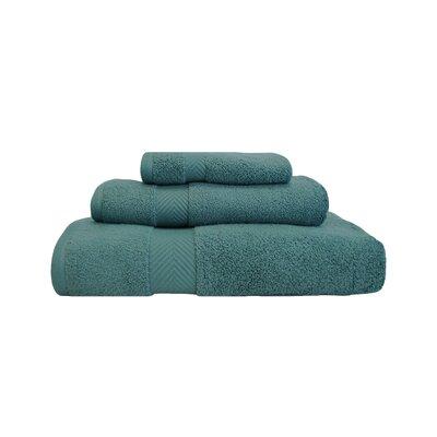 Zero-Twist 3 Piece 100% Cotton Towel Set Color: Jade