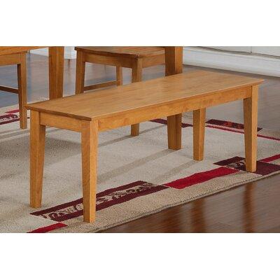 Smyrna Wood Bench Color: Oak