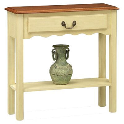 Apple Valley Console Table Color: Ivory