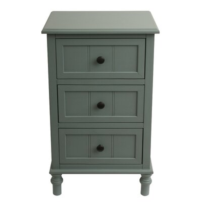 Wedgewood 3 Drawer Chest Color: Antique Iced Blue