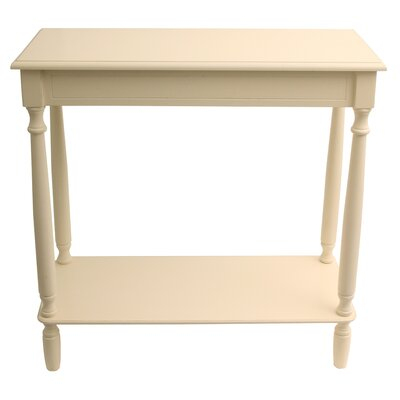 Hadenson Console Table Color: Antique White