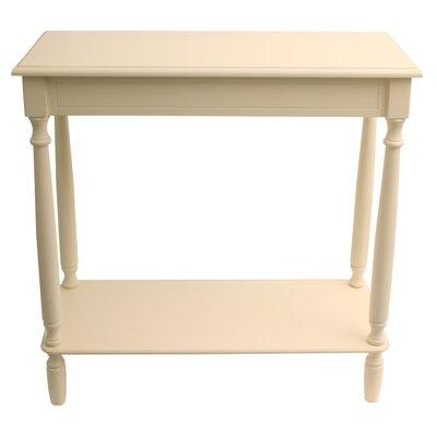 Hadenson Console Table Color: Antique White