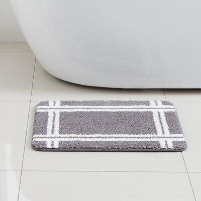 Brewster Bath Rug Color: Grey