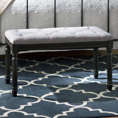 Vasilia Upholstered Bench Upholstery Color: Gray