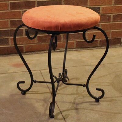 Steffes Round Iron Vanity Stool Color: Terra Cotta
