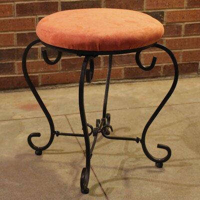Steffes Round Iron Vanity Stool Color: Terra Cotta