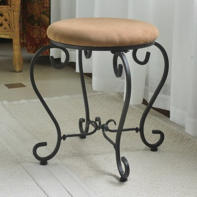 Steffes Round Iron Vanity Stool Color: Saddle Brown