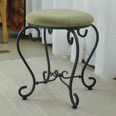 Steffes Round Iron Vanity Stool Color: Sage