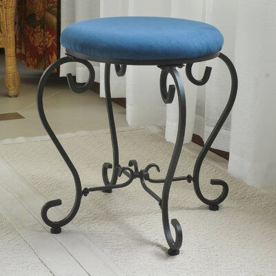 Steffes Round Iron Vanity Stool Color: Indigo