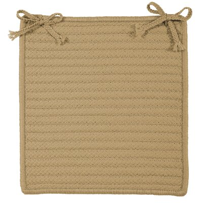 Glasgow Square Indoor/Outdoor Braided Chair Pad (Set of 4) Color: Cuban Sand