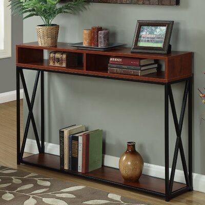 Abbottsmoor Console Table Color: Cherry/Black