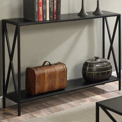 Abbottsmoor Metal Frame Console Table Color: Black