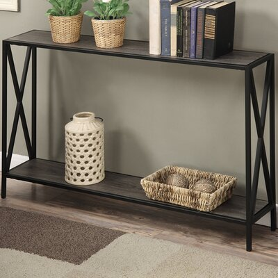 Abbottsmoor Metal Frame Console Table Color: Weathered Gray