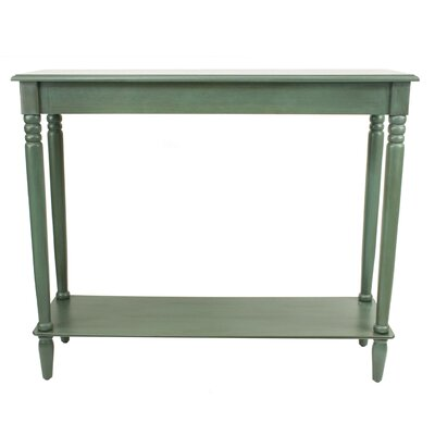 Adeline Console Table Color: Antique Teal