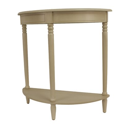 Hadenson Console Table Color: Beige