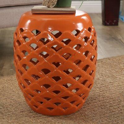 Oswego Garden Stool Finish: Orange
