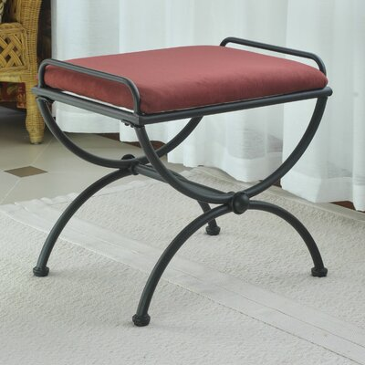 Blomberg Contemporary Iron Vanity Stool Color: Red Wine