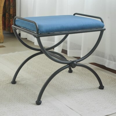 Blomberg Contemporary Iron Vanity Stool Color: Indigo