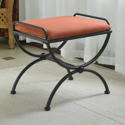 Blomberg Contemporary Iron Vanity Stool Color: Terra Cotta