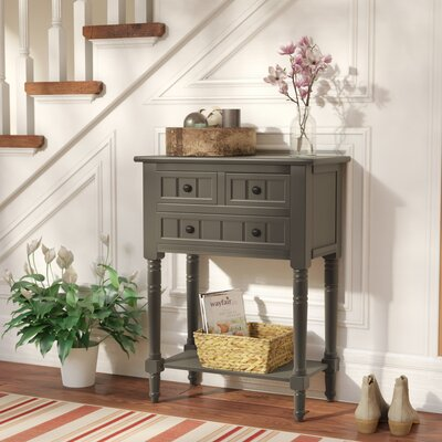 Wedgewood Console Table Color: Antique Grey