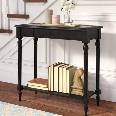 Carlisle Console Table Color: Black