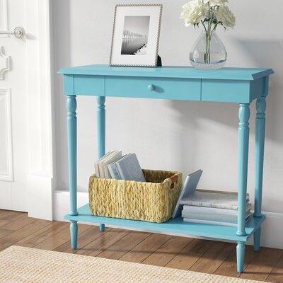 Carlisle Console Table Color: Blue