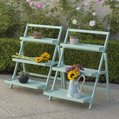 Goreville Outdoor Multi-Tiered Plant Stand Color: Light Mint
