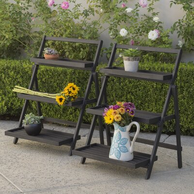 Goreville Outdoor Multi-Tiered Plant Stand Color: Dark Grey