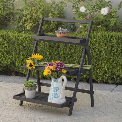 Goreville Modern Outdoor Multi-Tiered Plant Stand Color: Dark Grey