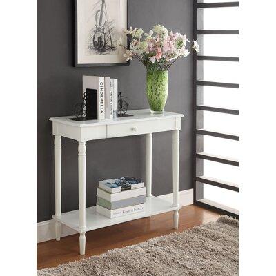 Carlisle Console Table Color: White