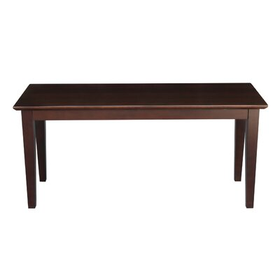 Allwood Wood Bench Color: Java