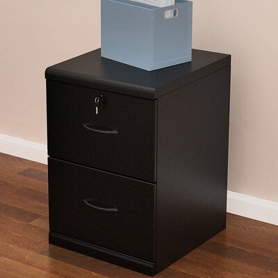 Berkhead 2 Drawer File Cabinet Finish: Black