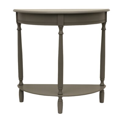 Wedgewood Console Table Color: Eased edge gray