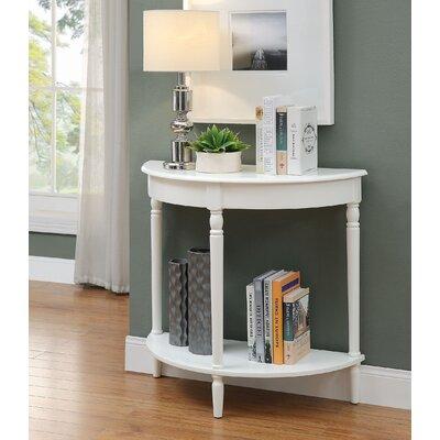 Carlisle Console Table Color: Bright White