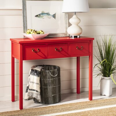Robinwood Console Table Color: Hot Red
