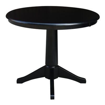 "Gilberton Dining Table Size: 28.9"" H x 30"" W x 30"" L, Color: Black"