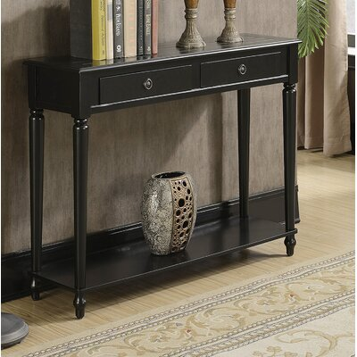 Widmer Console Table Color: Black