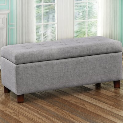 Bunting Upholstered Storage Bench Upholstery: Gray