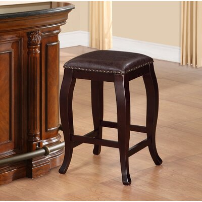 "Steiger 24"" Bar Stool Upholstery: Brown"