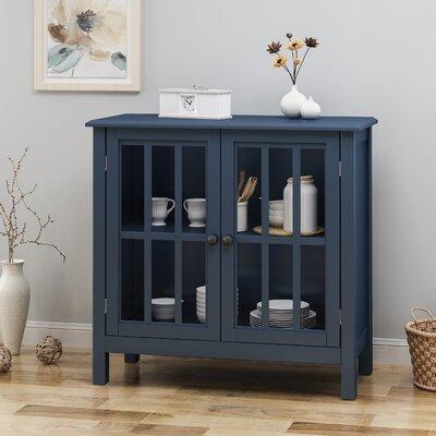 Gurney Traditional Wooden 2 Door Cabinet Color: Dark Blue